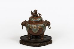 Ming Dynasty Bronze and Cloisonne Enamelled Lidded Pot