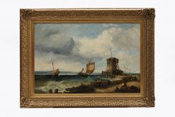 James Webb (1825-1895) 'Harbour Scene' Oil on canvas, Signed and dated 1881