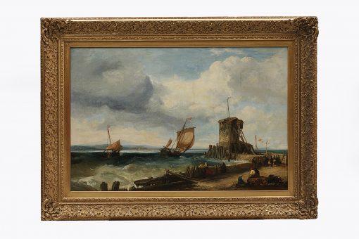 'Harbour Scene' James Webb (1825-1895)