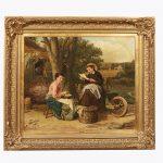 James Clarke Waite (Australian, 1832-1920). Oil on canvas, 'The Love Letter'. Signed lower left, circa 1880.