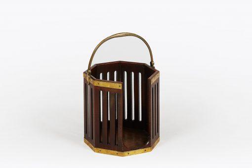 Early 19th Century George III Mahogany Brass Bound Plate Bucket