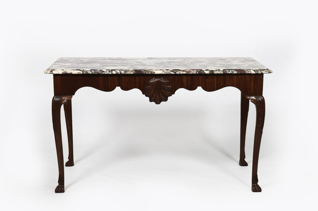 18th Century Irish Side Table with 'Medicis Breccia' Marble Top