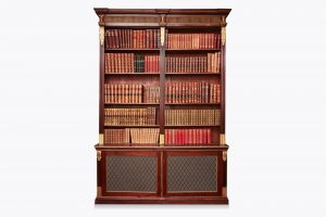 Early 19th Century Regency Mahogany Open Bookcase
