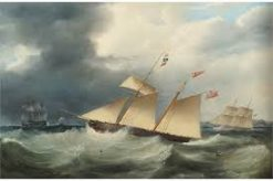 Samuel Walters (English, 1811-82) Yachts Racing