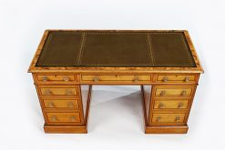 19th Century Elm Wood Pedestal Desk