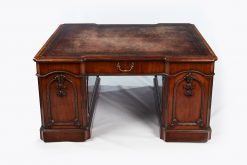 Late 18th Century George III Chippendale Carved Mahogany Partners Desk