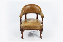 19th Century Pair of Victorian Mahogany Desk Chairs by Morrison & Co. of Edinburgh