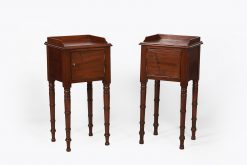 19th Century Pair of Mahogany Lockers after Gillows