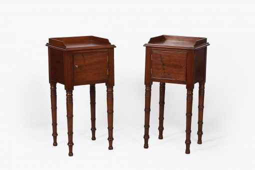 19th Century Pair of Mahogany Lockers after Gillows