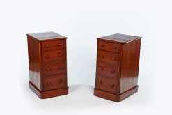 19th Century Pair of Mahogany Pedestal Bedside Lockers