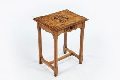 17th Century Oak and Fruit Wood Marquetry Side Table