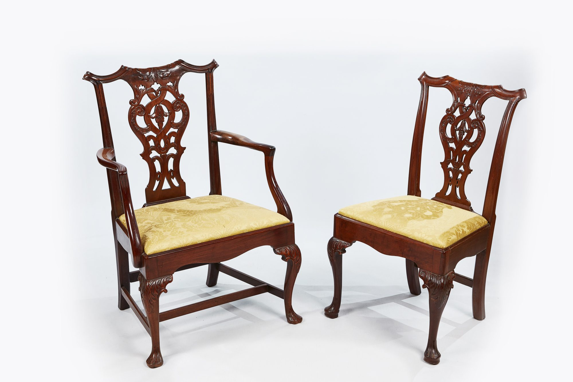 ... 19th Century Set Of Eight Chippendale Style Dining Chairs