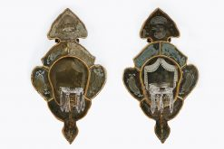 19th Century Venetian Pair of Gilt and Mirror Wall Sconces