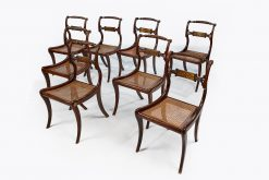 Early 19th Century Regency Set of Eight Simulated Rosewood Chairs