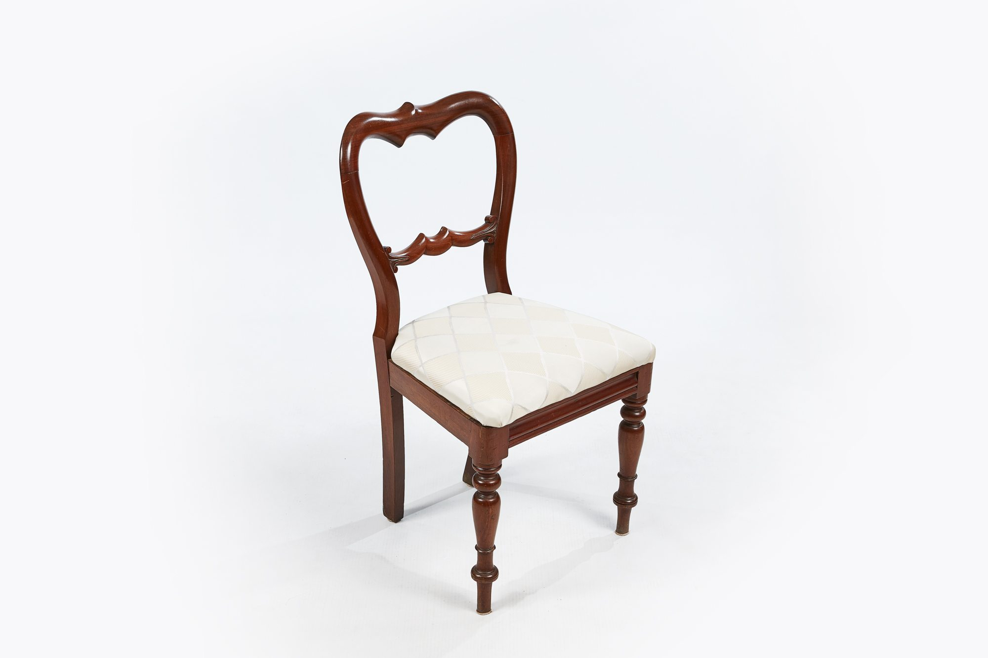 ... 19th Century Set Of Six Full Balloon Back Dining Chairs