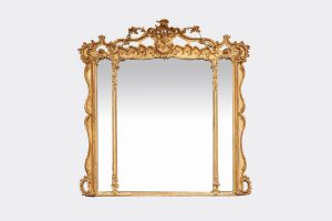 Early 19th Century Regency Gilt Overmantle Compartmental Mirror
