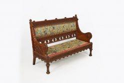 10110 - 19th Century Arts and Crafts Chair Back Settee