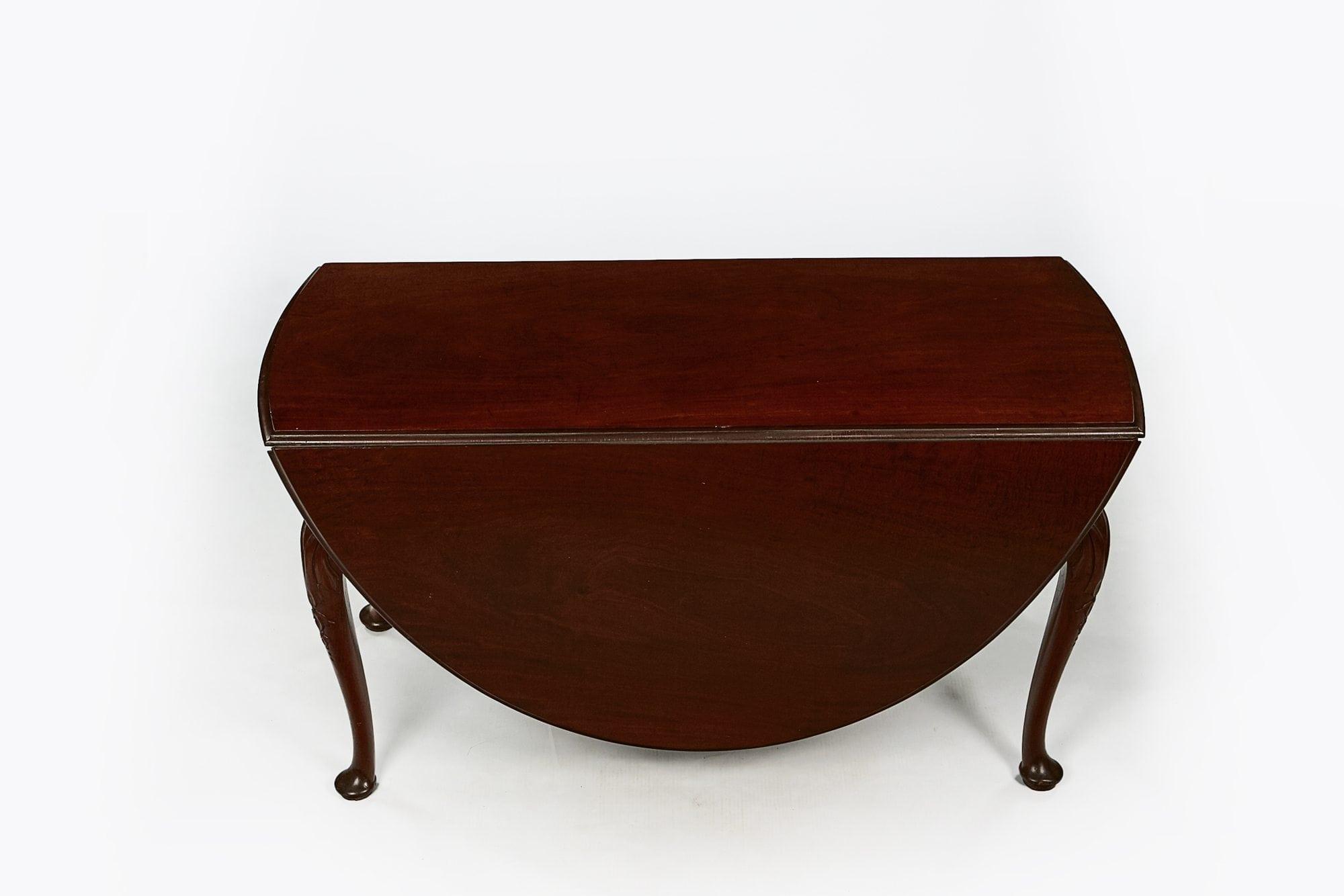 10150 Early 19th Century George Iii Flame Mahogany Drop Leaf Table