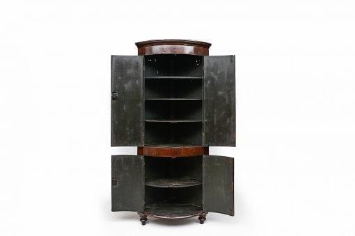 10154 - 18th Century Georgian Bowfront Corner Cabinet