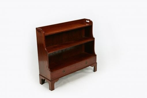 10184 - Early 19th Century George III Miniature Mahogany Waterfall Bookcase