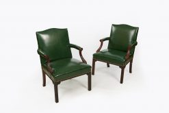 10196 - Late 18th Century George III Pair of Gainsborough Armchairs