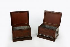 10247 - Early 19th Century William IV Pair of Mahogany Wine Coolers