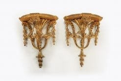 10256 - 18th Century Pair of Giltwood Wall Brackets after Adams