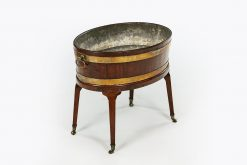 10259 - 19th Century Georgian Brass Bound Mahogany Planter