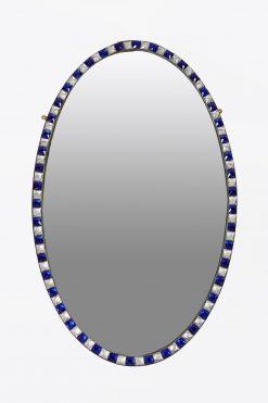 10260 - 19th Century Irish Waterford Pair of Oval Mirror