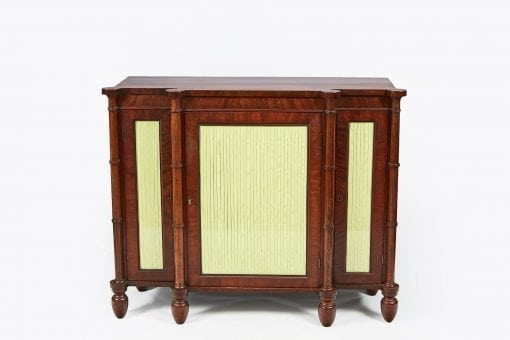10265 - 19th Century Breakfront Flame Mahogany Cabinet