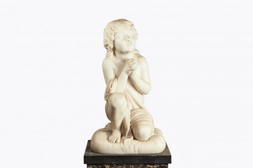 10277 - 18th Century Italian Statuary White Marble Figural Sculpture