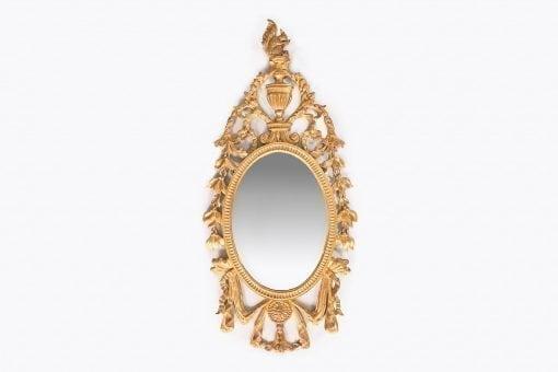 10279 - 19th Century Irish Giltwood Oval Mirror