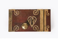10294 - 18th Century George III Mahogany and Brass Bound Door Lock