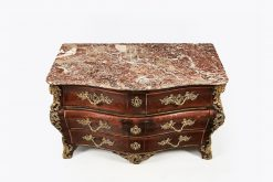10297 - 18th Century Marquetry Bombe Commode by Louis Delaitre