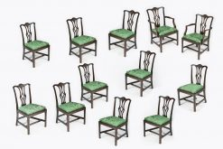 10298 - 19th Century Set of Twelve Dining Chairs after Thomas Chippendale