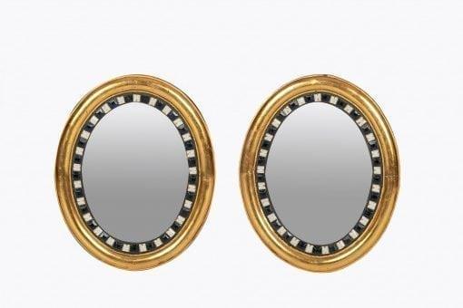 10308 - 19th Century Irish Waterford Pair of Giltwood Mirrors