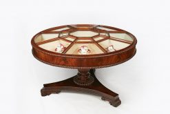 Early 19th Century William IV Irish Flame Mahogany Centre Display Table