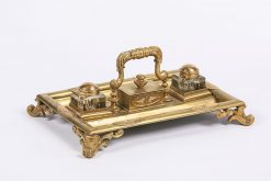 6756 - 19th Century English Brass Ink Stand