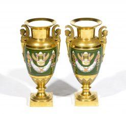 8191 - Early 19th Century Pair of Paris Porcelain Vases