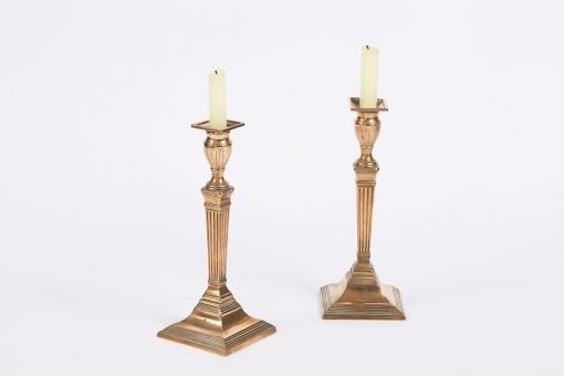 9847 - Early 19th Century Regency Pair of Brass Candlesticks