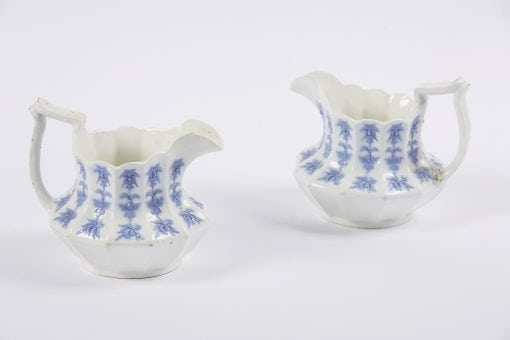 9958 - 19th Century German Pair of Porcelain Blue and White Jugs
