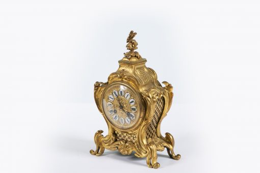 10325 - 19th Century Gilt Brass Mantle Clock by Japy Freres