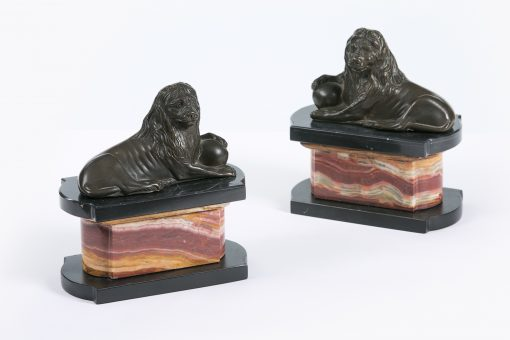 10395 - Early 19th Century Neoclassical Pair of Animalier Bronzes