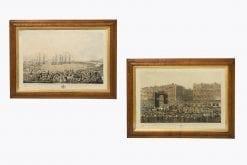 10399 - 18th Century Pair of Engravings 'George IV Visiting Dublin'