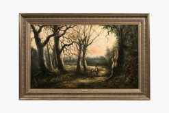 10352 - Adam Barland, (British, 1843-1875) 'Figures in a Forest'
