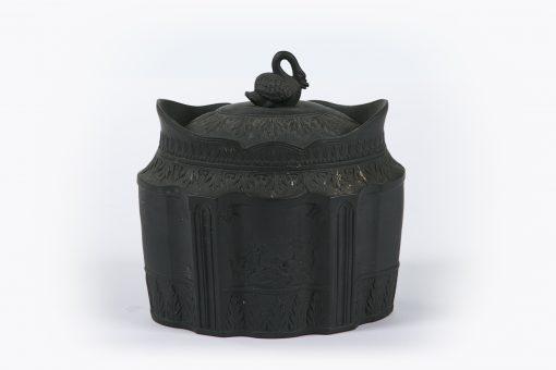 10389 - Early 19th Century Black Basalt Ware Sugar Bowl by William Baddley