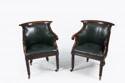 10401 - Early 19th Century Pair of Simulated Rosewood Library Chairs