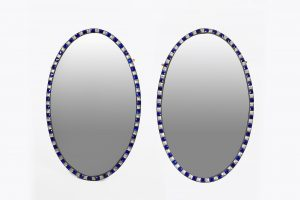 19th Century Irish Waterford Pair of Oval Mirrors