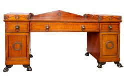 7677 - Early 19th Century Regency Plum Pudding Mahogany Sideboard after Thomas Hope