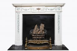 18th Century George III Irish Staturary White Marble and Scagliola Fire Surround after Pietro Bossi